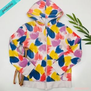 [Cat & Jack] Heart Print Bright Colored Hoodie